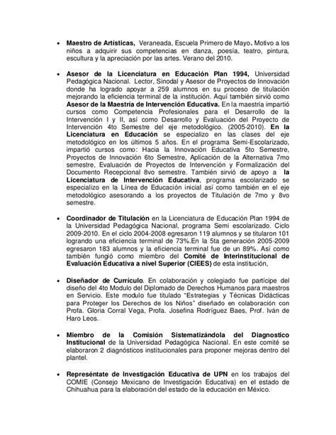 Modelo Curriculum Upn Modelo De Curriculum Vitae Upn Modelo De Curriculum Vitae
