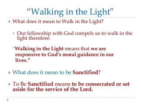 the quest for holiness sanctified living turn on the light