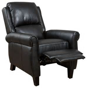 Black Leather Recliner Lloyd Black Leather Recliner Club Chair Recliner Chairs By Gdfstudio