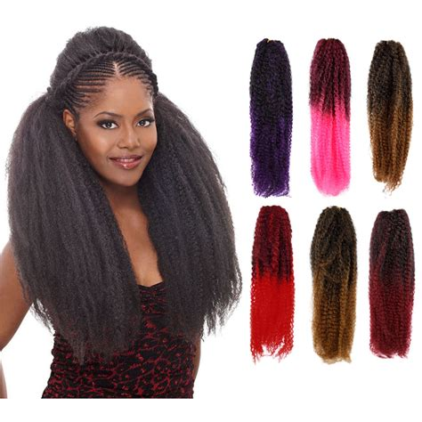 ombre synthetic braiding hair ombre femi collection kinky twist braiding hair 100
