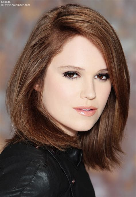 medium length hairstyles with side part my goal hair bob with far side part hair makeup products i