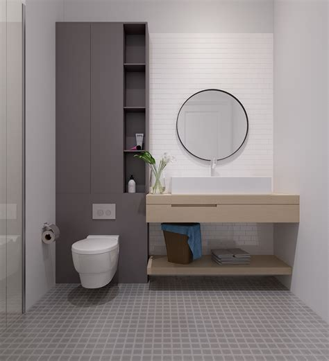 Modern Minimalist Bathroom Design Bright Scandinavian Decor In 3 Small One Bedroom Apartments