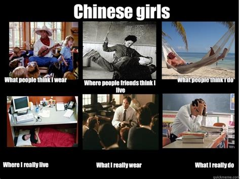 Chinese People Meme - chinese girls what people think i wear where people