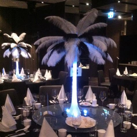 black feather centerpieces black and white feather centerpieces www imgkid