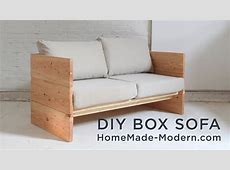 DIY Sofa made out of 2x10s - YouTube Wooden Simple Sofa Chair