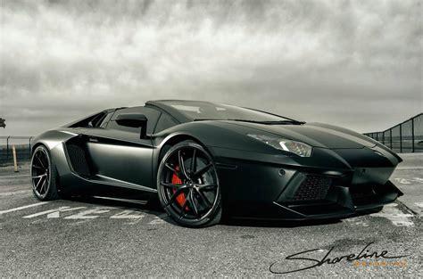 Lamborghini Aventador Cabrio This Matte Black Aventador Roadster Is Ready To Go On A Poster