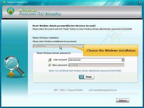windows vista enterprise password reset windows 7 password recovery tools to recover windows 7