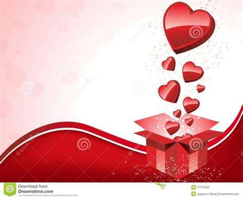 happy s day gift with hearts royalty free stock