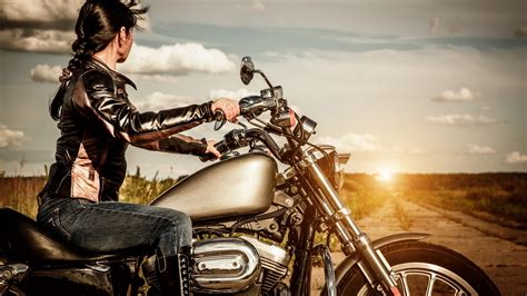 girl   motorcycle wallpapers high quality