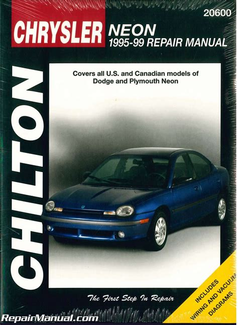 auto repair manual free download 1996 plymouth neon auto manual used chilton dodge neon 1995 1999 repair manual
