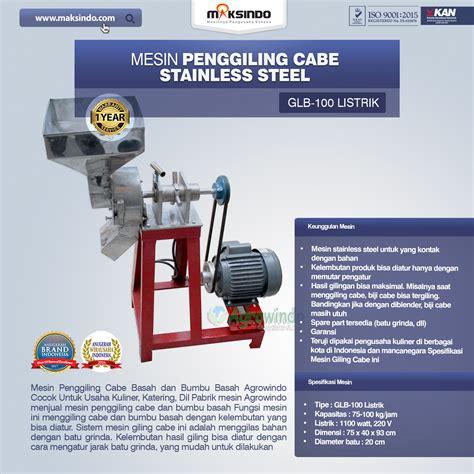jual mesin penggiling cabe stainless steel  malang