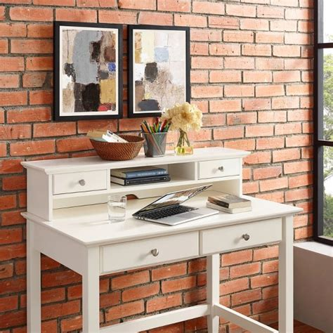 target desk with hutch cbell writing desk with hutch white crosley 174 target