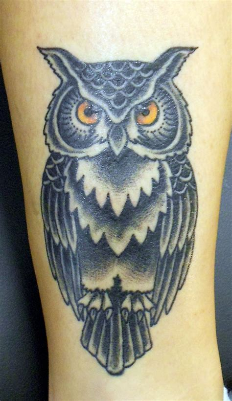 traditional owl tattoo owl 171 time