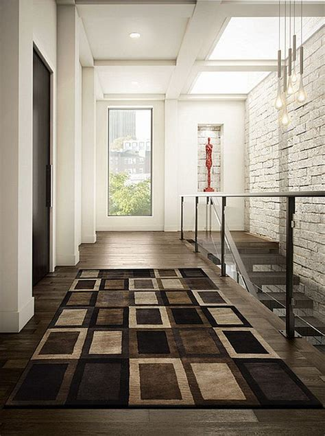 Entryway Carpet ultra modern entryway rug with brown theme