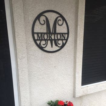 personalized   family circle monogram wreath sign