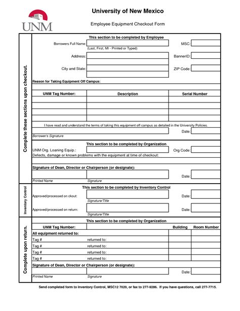check out report template best photos of equipment check out form template