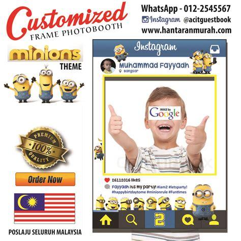 Photoframe Minion Dan Doraemon customized frame photobooth minion theme malaysia www hantaranmurah