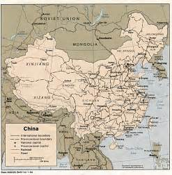 Ancient China Map by Ancient Dynasties