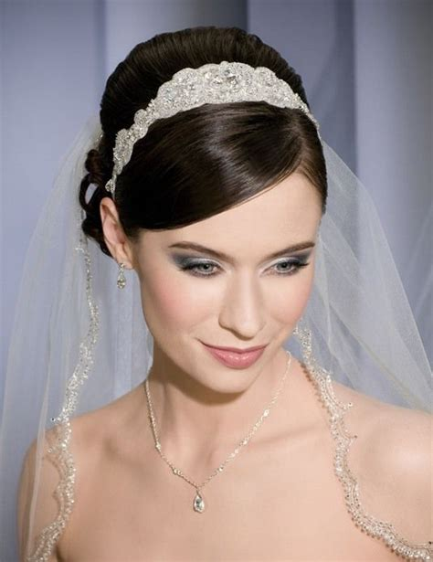 Wedding Hairstyles With Headbands And Veils by Mantilla Wedding Veil With Headband Search
