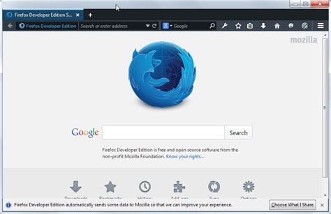 themes firefox developer edition a first look at firefox s new developer edition ghacks