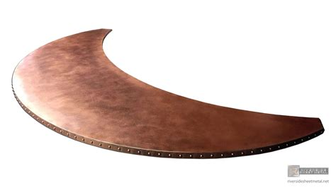 copper bar tops for sale copper bar top with rivets and patina moon shaped