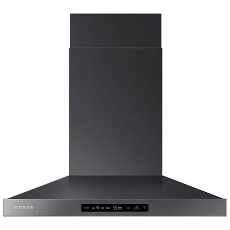 black stainless steel hood fan 30 quot range hood nk30k7000wg aa black stainless