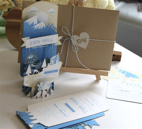 Pop Up Wedding Invitations