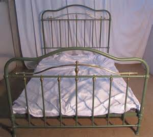 antique iron beds painted french brass and iron double bed antiques atlas