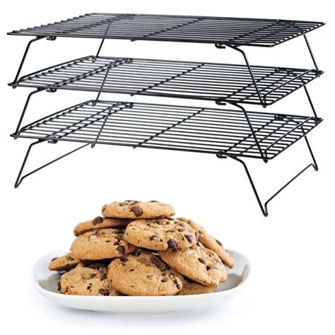 cooling cookies without a wire rack baker s secret 3 tier cooling rack space saver kitchen cookie baking