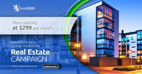 Real Estate Web Facebook Banners By Belegija Graphicriver Real Estate Banners Template