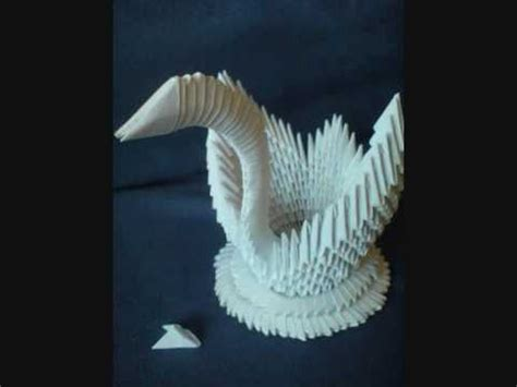 How Do You Make A Swan Out Of Paper - how to make a 3d origami swan tutorial by