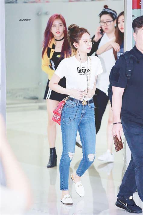 blackpink style 170807 blackpink jennie airport kpop idol fashion