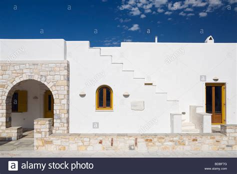 modern greek house design modern greek island cycladic house design on the island of paros stock photo royalty