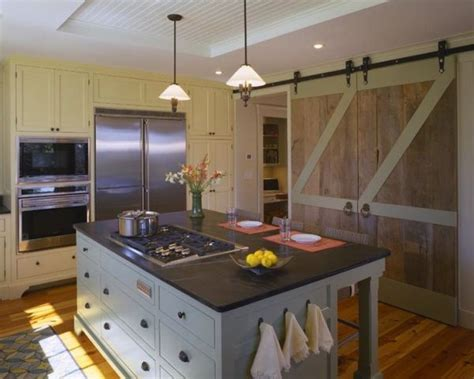 kitchen island with doors ways in which you can creatively incorporate barn doors into your home d 233 cor