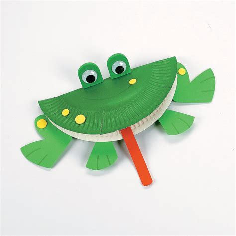 Frog Craft Paper Plate - paper plate frog car interior design