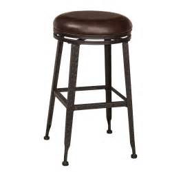 Backless Bar Stools Metal Hale Metal Backless Swivel Bar Stool In Black Humble Abode