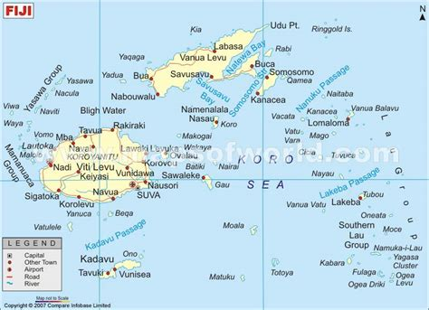 fiji islands map where is labasa fiji map