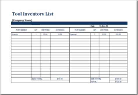 Hairstyles Inventory List by Inventory List Template Excel
