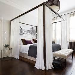 Four Poster Bed by White Bedroom With Four Poster Bed Bedroom Decorating