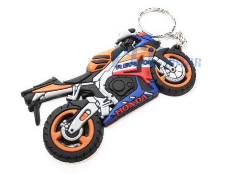 Key Chain Gantungan Kunci Cbr Repsol rubber keychain key chain ring dirt bike honda repsol cbr