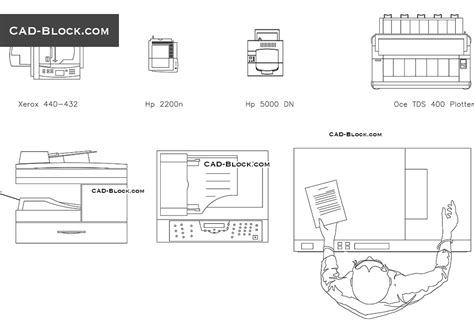 dwg file format specification photocopier cad block free download