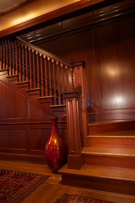 Mahogany Wainscoting Panels by New Jersey Residence Mahogany Foyer Paneling And Millwork