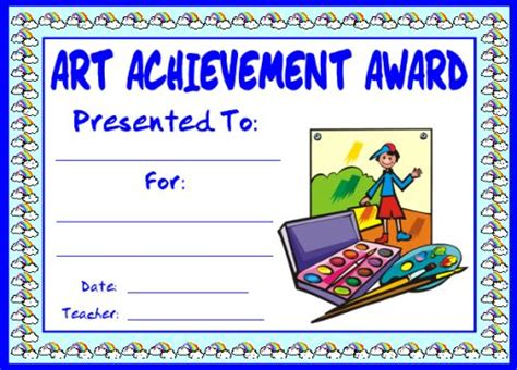 printable art achievement certificates art and music award certificates