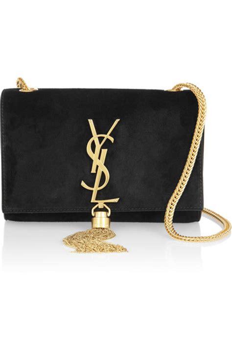 Tas Fashion Backpack Cross Pita Rumbai Gold Tas Wanita Laurent Cassandre Small Suede Shoulder Bag Net A