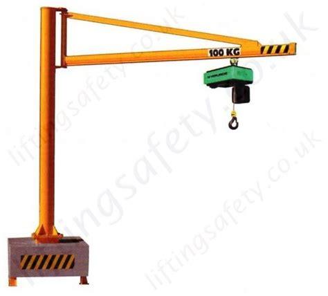 swing jib portable swing jib crane with c profile lifting beam