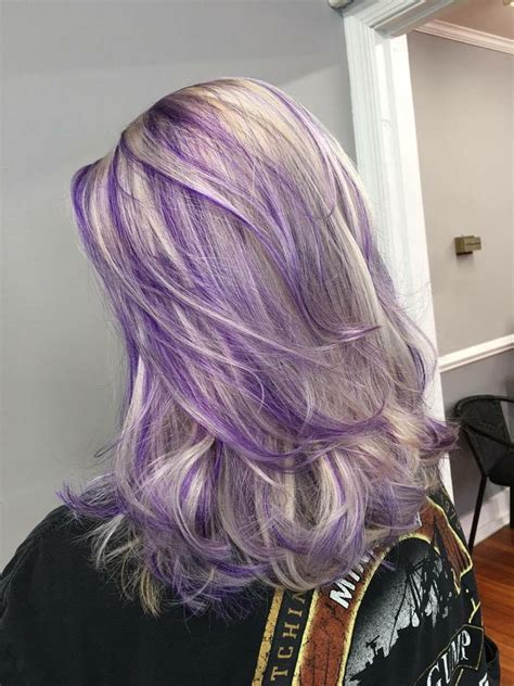purple and blonde hairstyles ash blond and purple hair purple hair pinterest