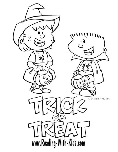 halloween coloring pages trick or treat картинки за оцветяване за хелоуин забава