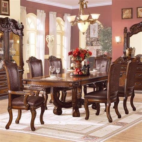 ornate dining table and chairs acme furniture agate ornate dining table and chair set