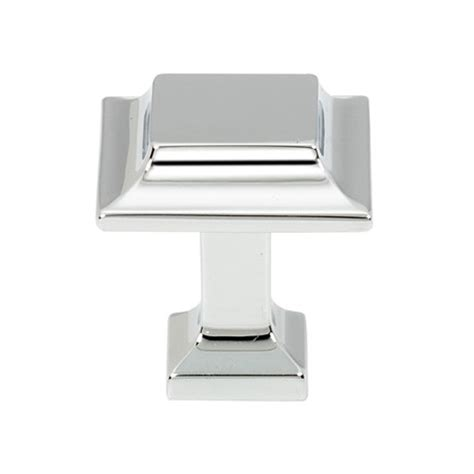 square polished chrome cabinet pulls polished chrome square 1 25 quot knobs n knockers