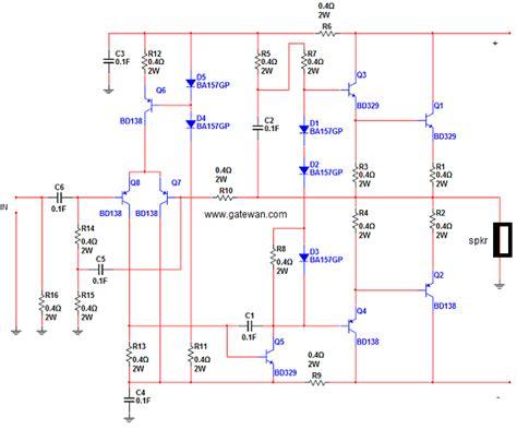 transistor komplementer transistor penguat akhir 28 images penguat lifier kelas a rangkaian inverter 12 vdc ke 220